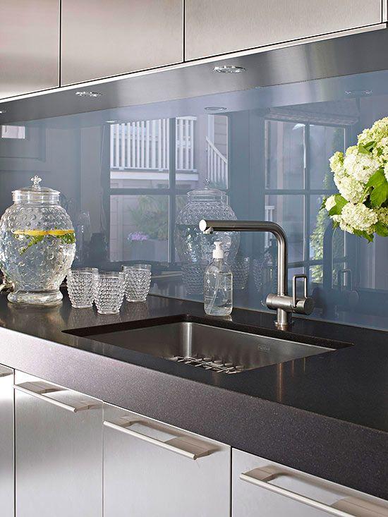Stunning Küchen Fliesenspiegel Glas Photos - Ridgewayng.com ...